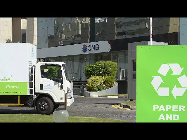 QNB 's recycling initiative in cooperation with Elite Paper Recycling