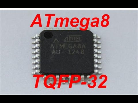 Programming the ATmega8 microcontroller in the TQFP32 (SMD) package