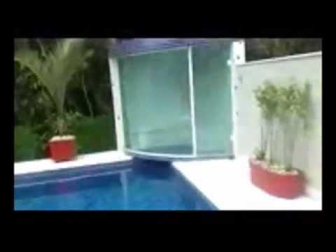 Sauna com piscina integrada impercap saunas youtube for Piscinas semienterradas
