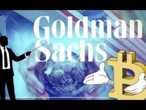 Goldman is setting up a cryptocurrency