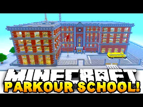Minecraft PARKOUR SCHOOL CHALLENGE #1 - w/ Preston, Woofless & Choco
