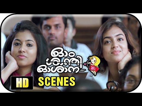 Om Shanti Oshana Movie Scenes HD | Vineeth Srinivasan joins as Nazriya's professor | Nivin Pauly