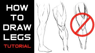 How to Draw Muscular Legs Tutorial