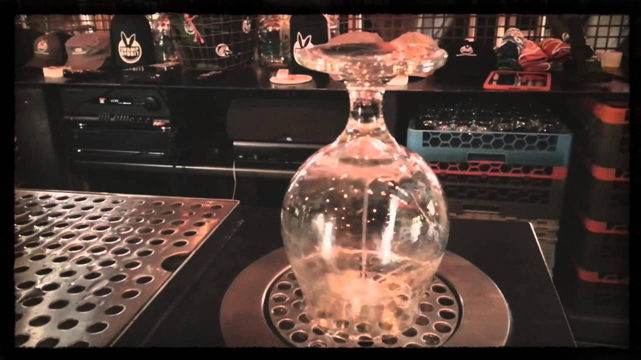 bar top glass rinser reduces glass tension temp youtube - Bar Glass Washer
