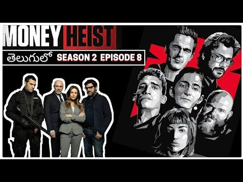 Download Money Heist Telugu  Season2 Episode8  Money Heist Explained in Telugu  LaCasa De Papel Spanish Drama