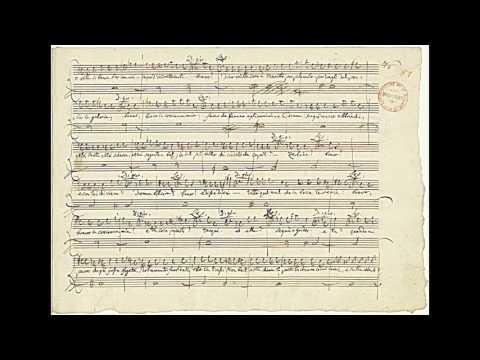 """Mozart: """"Don Giovanni"""" - 'Fin Ch'han Dal Vino' (autograph Manuscript)"""