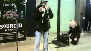 josie mel live at st pancras stn. 19th april 2012