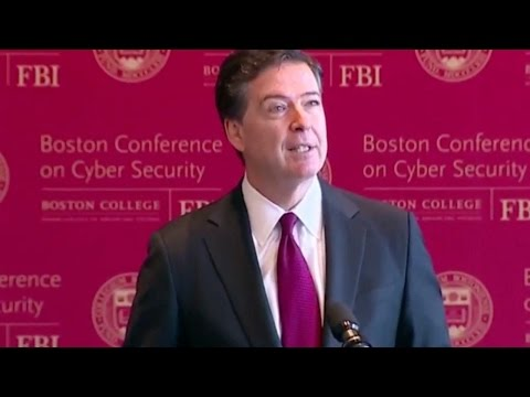 "James Comey at Boston Conference on Cyber Security "" Ill Stick Around For Another 6 Years """