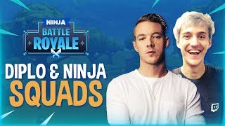 Diplo & Ninja Play Squads! - Fortnite Battle Royale Gameplay