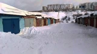 видео Особенности строительства гаража зимой