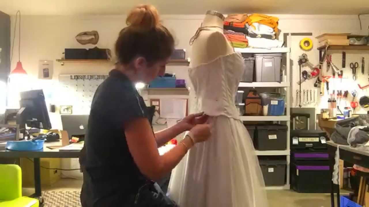 Making The Corpse Bride Wedding Dress - YouTube