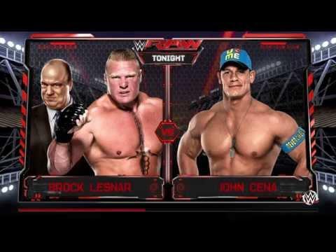 PS4 WWE 2K16 Gameplay - John Cena Vs. Brock Lesnar (720p)