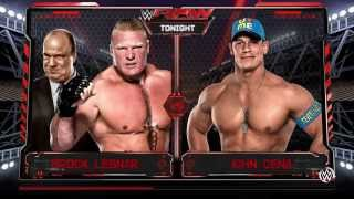 PS4 WWE 2K16 Gameplay - John Cena Vs. Brock Lesnar (720p)