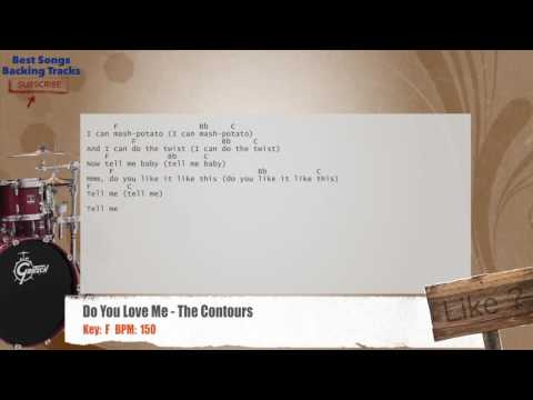 Do You Love Me - The Contours Drums Backing Track with chords and lyrics
