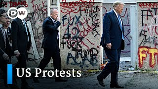 Police violently clear streets for Donald Trump walk | Protests in the US latest news