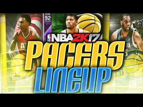 NBA 2K17 Indiana Pacers Lineup In MyTEAM! Breakout Year?! NBA 2K16!