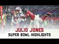 Julio Jones Makes Insane Super Bowl Catches! | Patriots vs. Falcons | Super Bowl Player Highlights