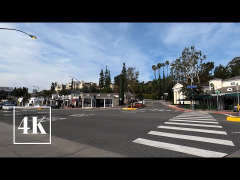 The Sunset Strip - 4K Walking Tour - Sunset Boulevard Los Angeles, California 📽 3D Binaural Sound 🎧