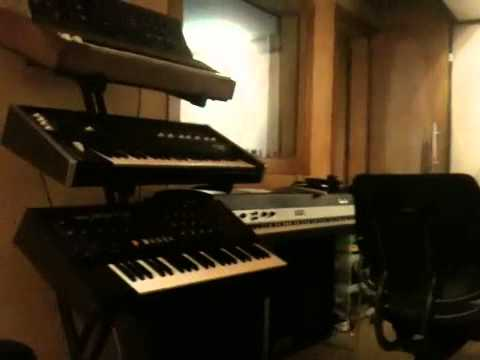 Drum tracking at Grand Street Studios