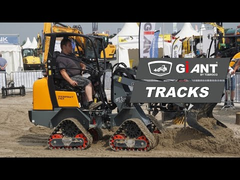 TOBROCO-GIANT shows first GIANT wheel loader on tracks.