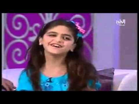 Cute Arab Girl Sings Bollywood Song.