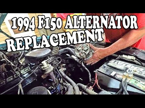 1994 Ford F150 Alternator Replacement 92 96 Ford Truck
