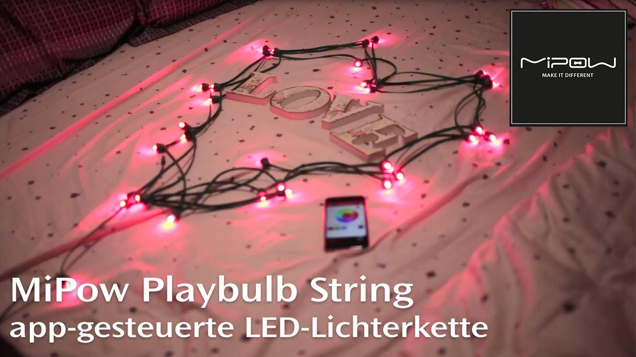 playbulb string app gesteuerte led lichterkette f r smartphones mit farbwechsel und effekten. Black Bedroom Furniture Sets. Home Design Ideas