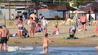 Анапа пляж центральный 19 июня 2015 вечер
