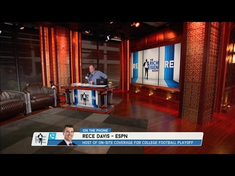 ESPN College Football Gameday Host Rece Davis Weighs in on The CFB Title Game - 1/10/17