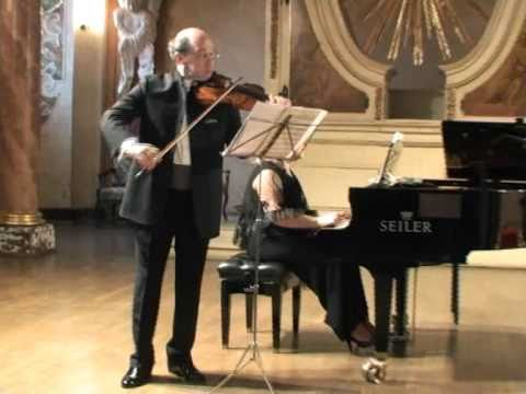 Michael Vaiman and Dina Yoffe play Mozart Sonata K454(1/3)