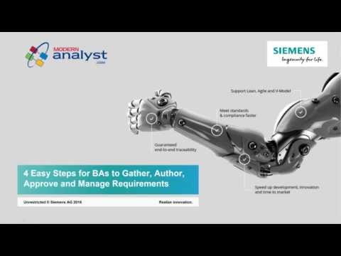 2016 06 23 – 4  Easy Steps for BAs to Gather, Author, Approve and Manage Requirements