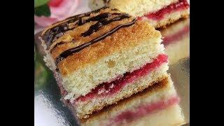 Бисквитное пирожное с ягодным компотом//Вкусно, быстро и легко//Марианна Life