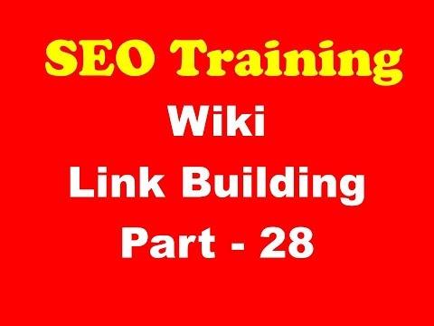 SEO Training - Wiki  Link Building