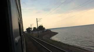 Черкасское водохранилище с окна поезда
