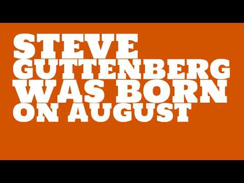 Who does Steve Guttenberg share a birthday with?