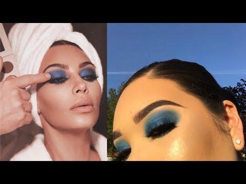 KKW Cobalt Blue Makeup Tutorial   Breana Sanchez