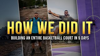 Behind The SCENES OF Building A FULL Basketball Court ?!