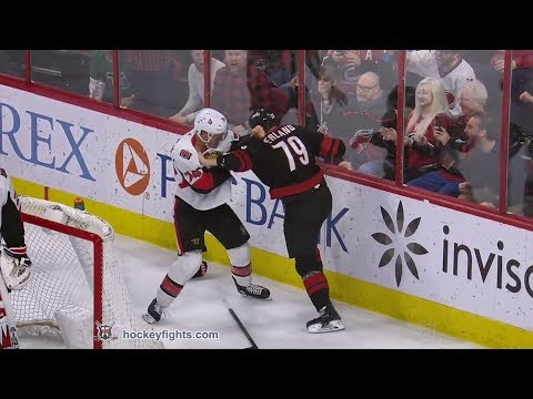 Mark Borowiecki vs Micheal Ferland Jan 18, 2019