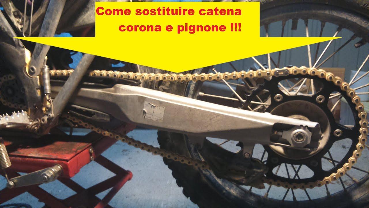 sostituzione catena corona e pignone in 15 min/ how to change
