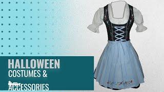 Dirndl Women Halloween Costumes & Accessories [2018]: Dirndl World 3pcs. Bavarian Mini Dirndls Dress
