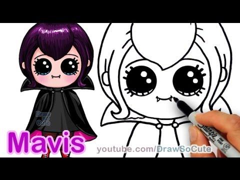 How To Draw Mavis Hotel Transylvania Vampire Girl Cute Step By Step Youtube