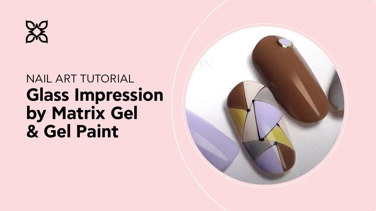 Bluesky Nail Academy - Matrix Gel with Gel Paint Design - YouTube