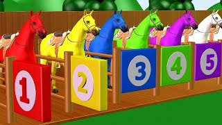 Learn Colors With Horse Animals Colors For Kids - Educational Videos For Toddlers