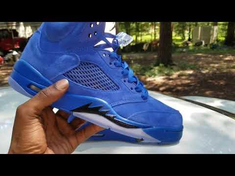 Jordan 5 Blue Suede Wit Da Humps In Da