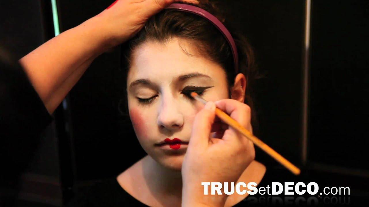 Maquillage de geisha , Tutoriel par trucsetdeco.com