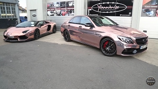 Chrome Rose Gold C63s Wrapped by Yiannimize