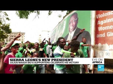 Sierra Leone's new president: Maada Bio's supporters celebrate his victory