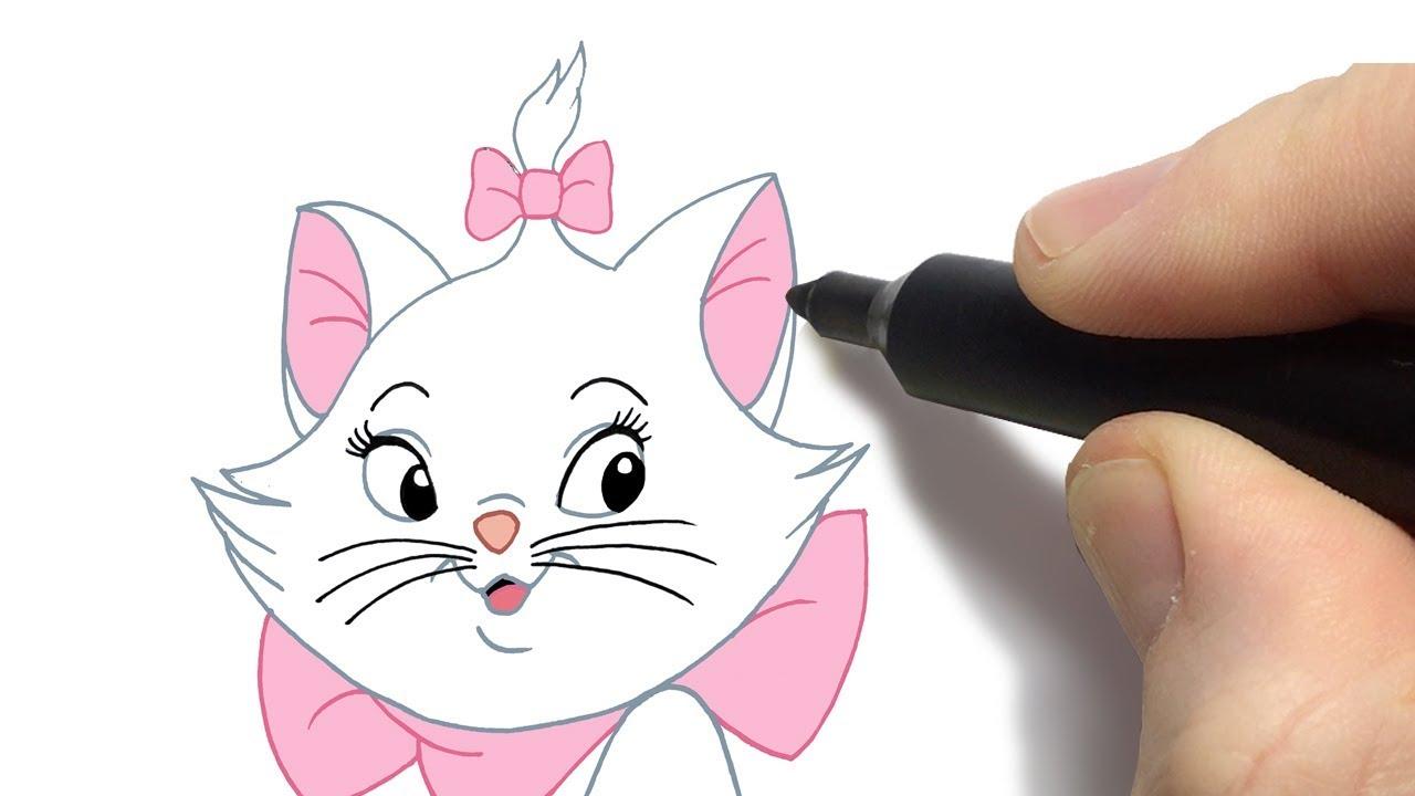 Como Desenhar A Gatinha Marie Passo A Passo Youtube