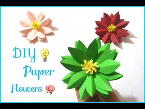 DIY Paper Flowers/How to make easy and cute Paper flowers at home/DIY Craft Queen