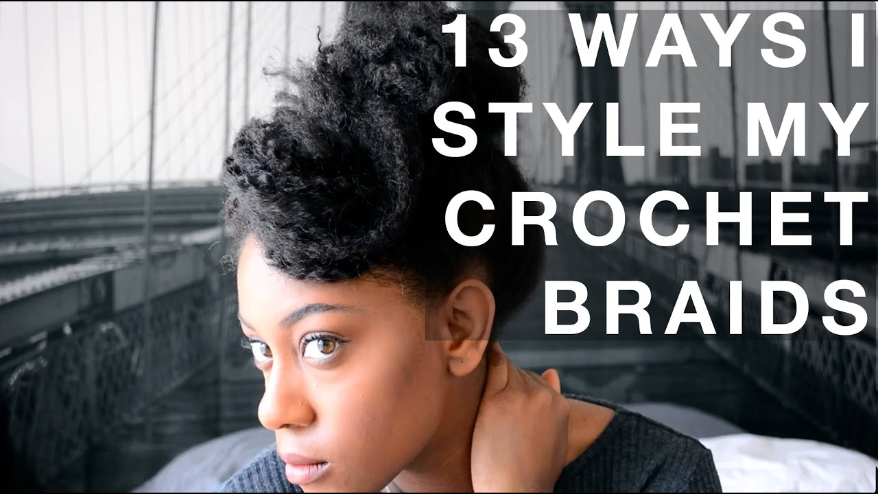 13 Ways I Style My Crochet Braids Marley Hair  YouTube